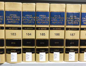 Law of California - The California Appellate Reports, the official reporter of the Courts of Appeal