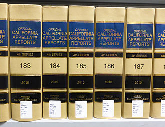 California courts of appeal - The California Appellate Reports, the court's official reporter