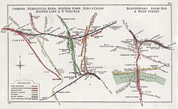 Camden, Hampstead Road, Kentish Town, King's Cross, Maiden Lane & St Pancras Blackfriars, Snow Hill & West Street RJD 84.jpg