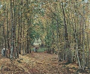 Forêt de Marly - Image: Camille Pissarro Allée dans le parc de Marly