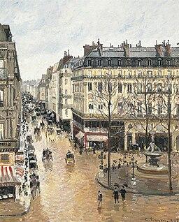 Camille Pissarro - Rue Saint-Honoré, dans l'après-midi. Effet de pluie