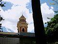 Campanar de l'església de sant Sebastià des del Jardí Botànic, València.JPG