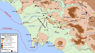 Battle of Capua - Operations in Campania during the 212 BC campaign