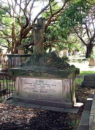 Nicolas-Charles Bochsa - Bochsa's grave in Camperdown Cemetery, Sydney