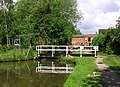 Canal swing bridge at Fradley Junction, Staffordshire - geograph.org.uk - 997267.jpg