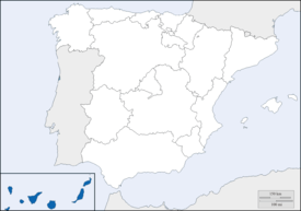Canary Islands within Spain