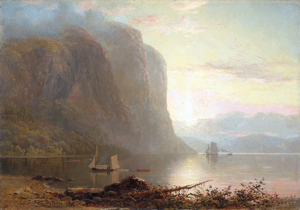 Lucius Richard O'Brien - Sunrise on the Saguenay, Cape Trinity (1880). Oil on canvas. 90 x 127 cm. National Gallery of Canada