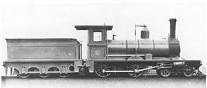 CGR 1st Class 4-4-0 - Works picture of CGR 1st Class 4-4-0, c. 1879