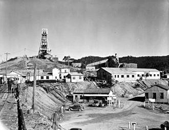 Captains Flat - Captains Flat mine in 1952