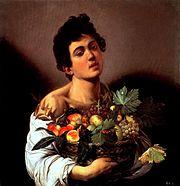『果物籠を持つ少年』