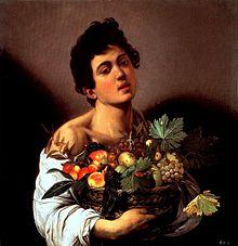 Caravaggio, Fanciullo con canestro di frutta, 1592 ca. Olio su tela, 70 × 67 cm. Roma, Galleria Borghese.