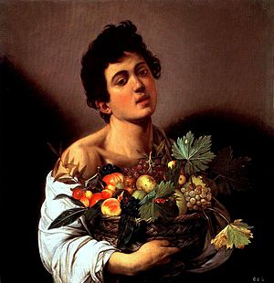 Boy with a Basket of Fruit (1593–94) by Caravaggio