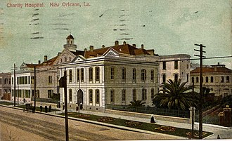 Charity Hospital (New Orleans) - The old Charity Hospital building at the start of the 20th century