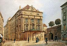 Das Wiener Kärntnertortheater, langjährige Wirkungsstätte Kreutzers als Dirigent, mit acht Uraufführungen zwischen 1810 und 1838. (Quelle: Wikimedia)