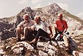 Carl Woese, Otto Kandler, Ralph Wolfe in 1981 on their way to Hochiss Mt., Archiv Fam. Kandler.jpg
