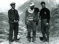 Carleton Coon and Stavre Frashëri with a mountaineer in northern Albania (1929).jpg