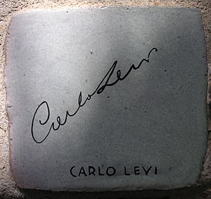 Carlo Levi - Tile autographed by Carlo Levi at Alassio.