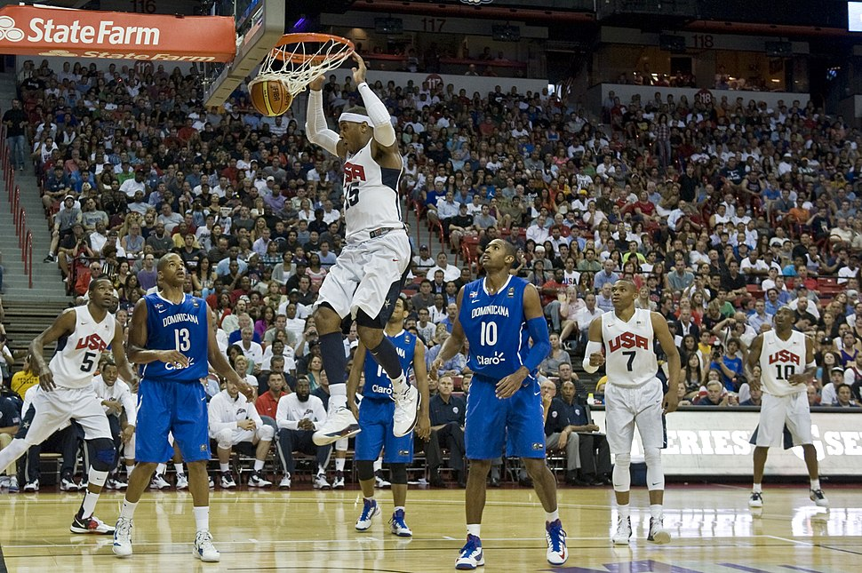Carmelo Anthony dunk USA vs Dominican Republic