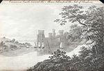 Carnarvon Castle,towards the Menai,taken from the Isle of Anglesea.jpeg