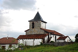 Çaro, Pyrénées-Atlantiques - The church of Çaro