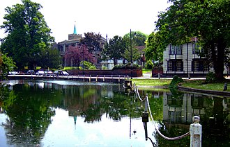 River Wandle - Carshalton Pond, London Borough of Sutton