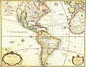 Map of North and South America, French (18th century)