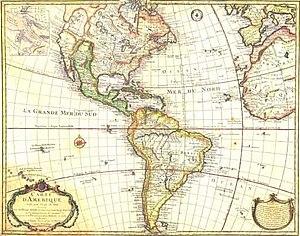 Guillaume Delisle - Delisle's Carte d'Amérique, 1722