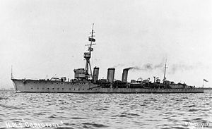HMS Carysfort (1914) - Image: Carysfort 1920s