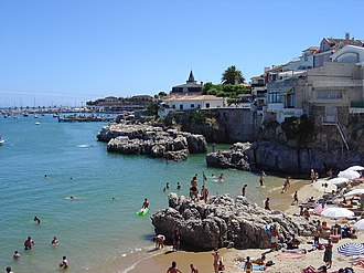 Cascais - Praia da Rainha (Queen's Beach), a beach in the centre of Cascais.