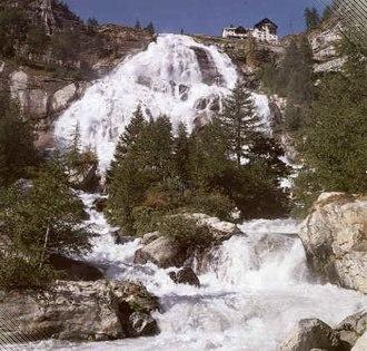 Toce - The waterfall near La Frua