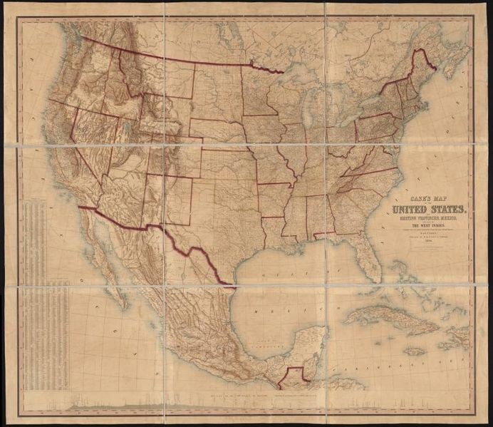 File cases map of the united states the british provinces for Case in stile british west indies