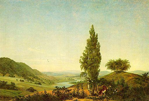 Caspar David Friedrich - Der Sommer (Landschaft mit Liebespaar)