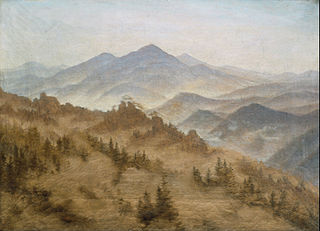 Landscape with the Rosenberg in the Bohemian Mountains