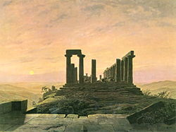 Caspar David Friedrich: Temple of Juno in Agrigento