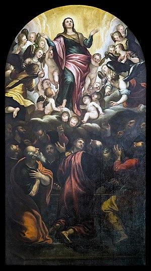 Alessandro Maganza -  Adorazione della Vergine con gli Angeli (1581)