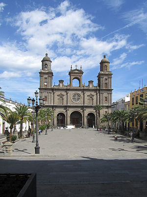 Las Palmas Cathedral - Vista de catedral de Canàries.