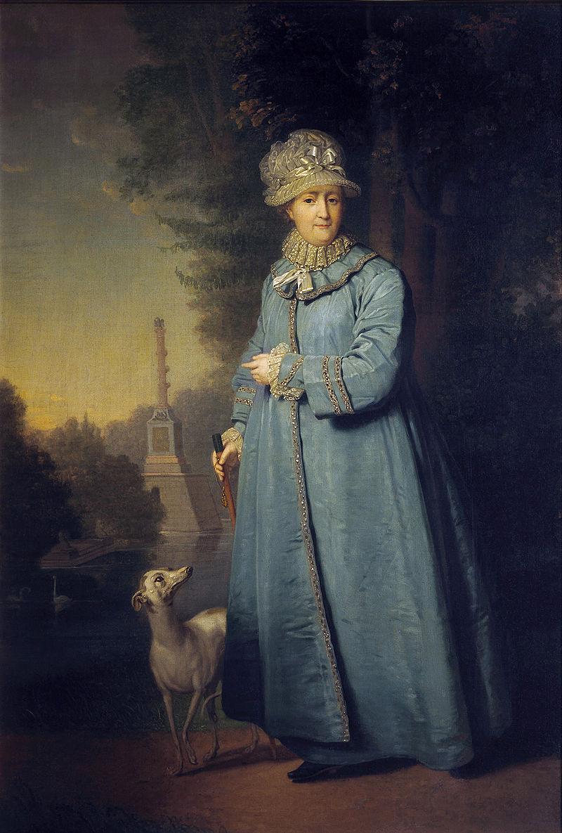 Catherine II walking by V.Borovikovskiy (1794, Tretyakov gallery).jpg