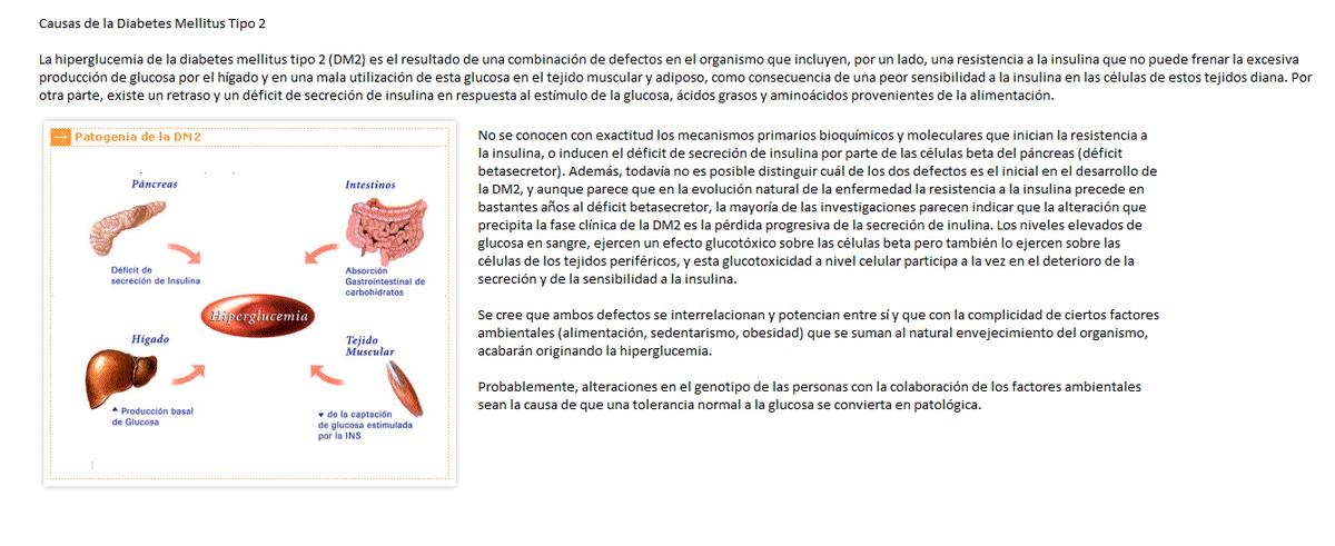 etiología de la diabetes mellitus tipo ii