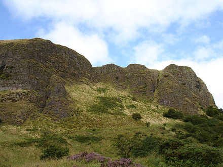 Cavehill, a basaltic hill overlooking the city Cavehill, Belfast.jpg