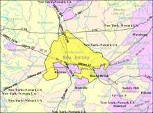 Census Bureau map of Bridgewater Township, New Jersey.png
