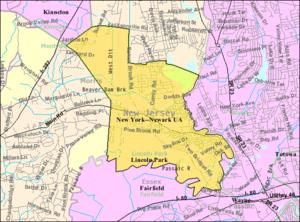 Lincoln Park, New Jersey - Image: Census Bureau map of Lincoln Park, New Jersey