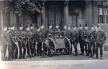 Photo of volunteer soldiers in the late 19th century