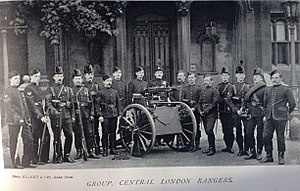 The Rangers (British regiment) - Machine gun section, 22nd Middlesex Rifle Volunteers (Central London Rangers), 1897