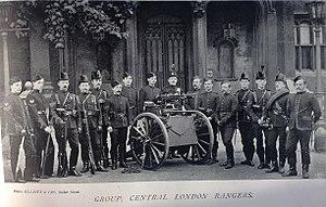 The Rangers (British regiment) - Machine gun section, 22nd Middlesex Rifle Volunteers (Central London Rangers), 1897