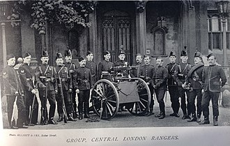 Territorial Force - Late 19th-century volunteers of the 22nd Middlesex Rifle Volunteers (Central London Rangers)