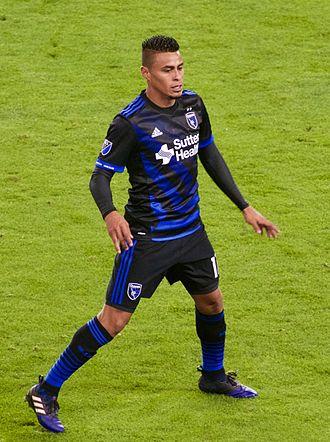 Darwin Cerén - Cerén playing for San Jose Earthquakes in 2017