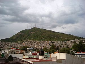 XHTVM-TDT - Cerro del Chiquihuite, home to the XHTVM transmitter that has been the focus of two takeovers in the station's history