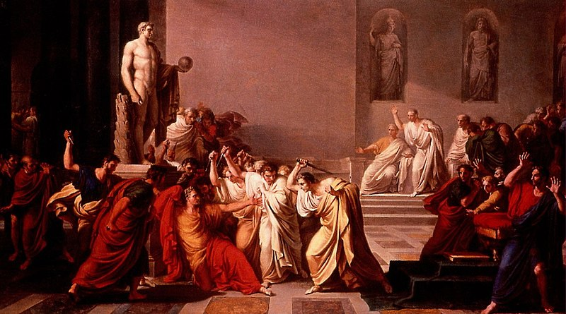 Vincenzo Camuccini, La morte di Giulio Cesare, 1798, Museo di Capodimonte.