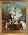 Château de Versailles, appartements du Dauphin et de la Dauphine, salle des gardes, Nature morte au buste de l'Afrique, Jean-Baptiste Oudry, 1722.jpg
