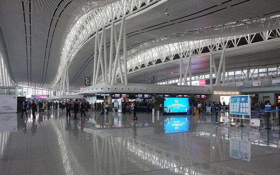 Changsha Huanghua Airport T2 Departure hall 20131122